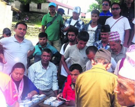Villagers rejoice as election brings festive mood