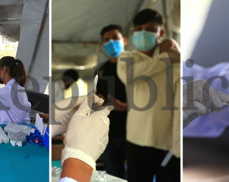 IN PICS: University students appearing for examinations receive COVID-19 vaccines in capital