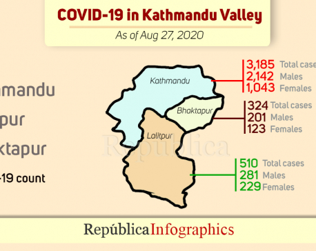 COVID-19 cases keep soaring in Kathmandu Valley; 377 new cases reported in past 24 hours