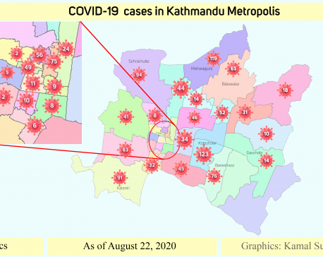 Koteshwor and Maharajgunj are COVID-19 'hotspots' in Kathmandu