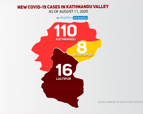 Kathmandu Valley records highest single day spike of 134 new cases of COVID-19