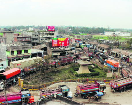 Vehicular traffic at Birgunj border affects trade