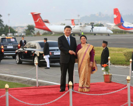 Chinese President Xi Jinping lands at TIA (with photos)