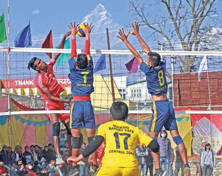Departmental teams dominate volleyball tournament on first day