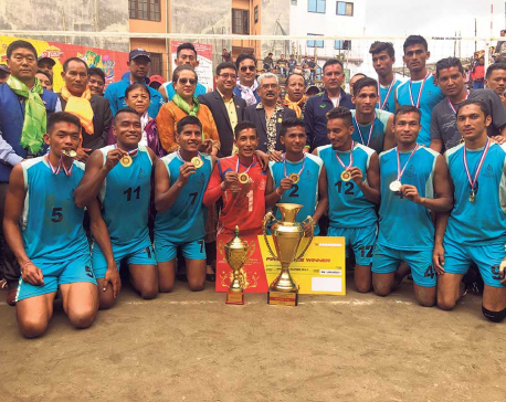 APF lifts Dhorpatan Men's Volleyball title