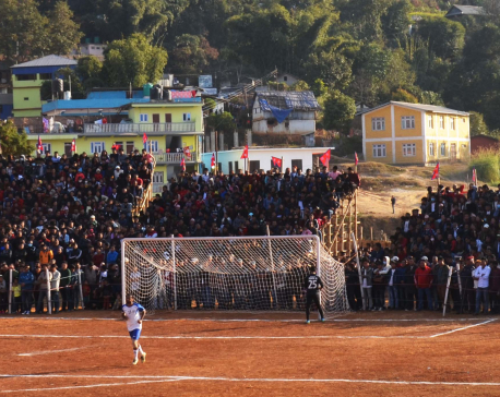 Panchthar locals turn up in 1000s for Falgunanda Football Cup