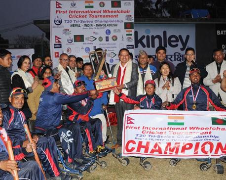 Nepal clinches  International Wheelchair Cricket Championship