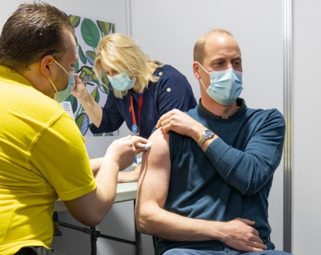 Prince William receives first dose of COVID-19 vaccine