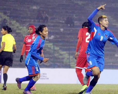 Nepal thumps Maldives 9-0 (photo feature)