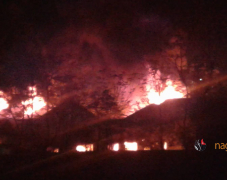 Massive fire erupted in Yeti Carpet 8 hours ago still continues