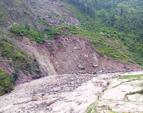 Landslides, flood threaten more than 100 houses in Rasuwa