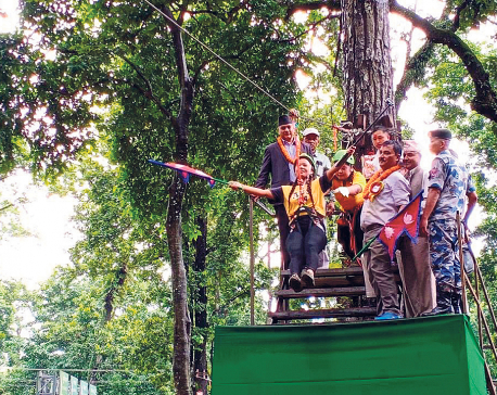 Chitwan boasts of zip line