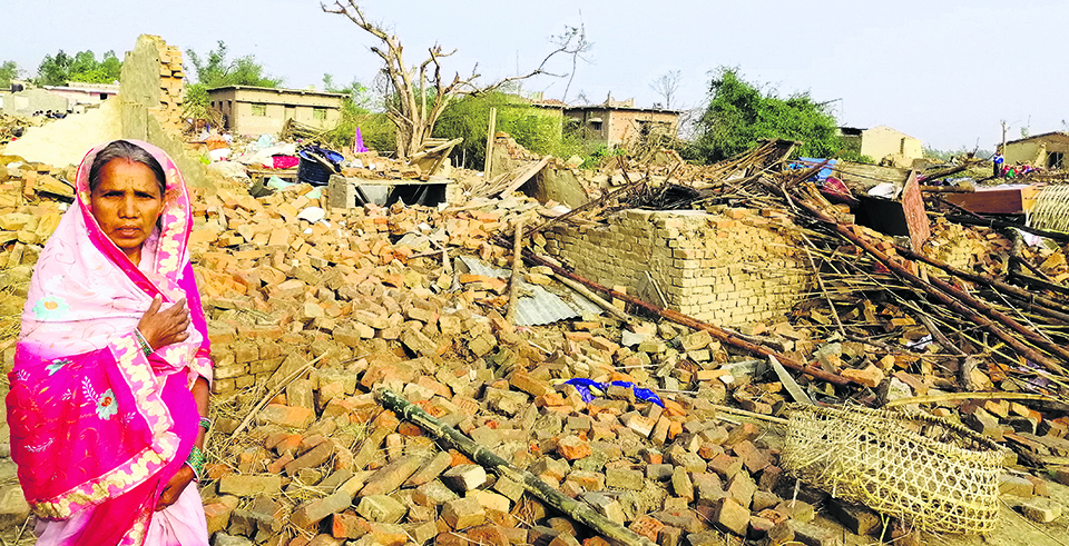 Rs. 40 million pledged for Bara-Parsa wind storm victims so far