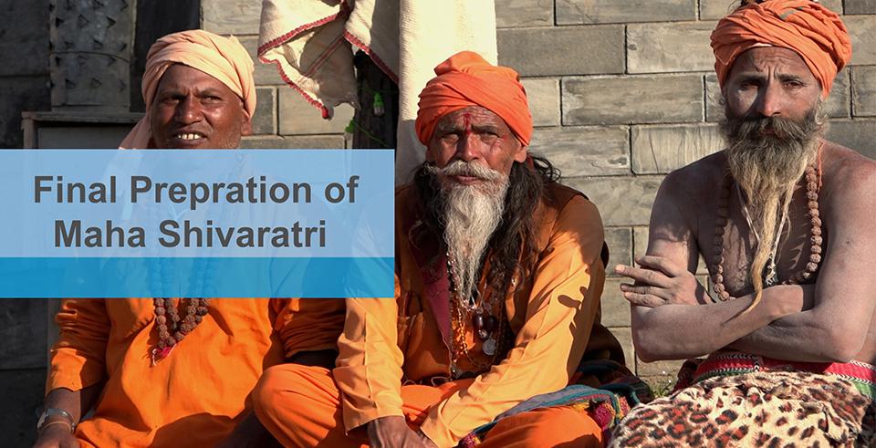 Final preparation underway for Mahashivaratri (with video)