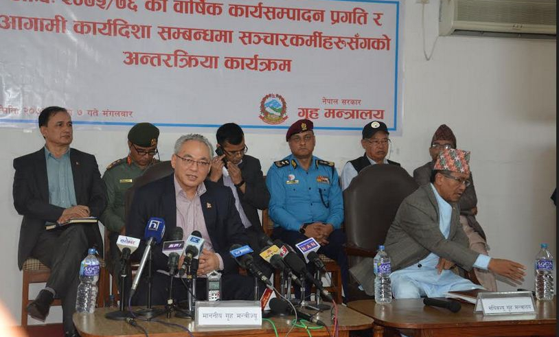 Govt has succeeded in maintaining peace and security: Home Minister Thapa (with video)