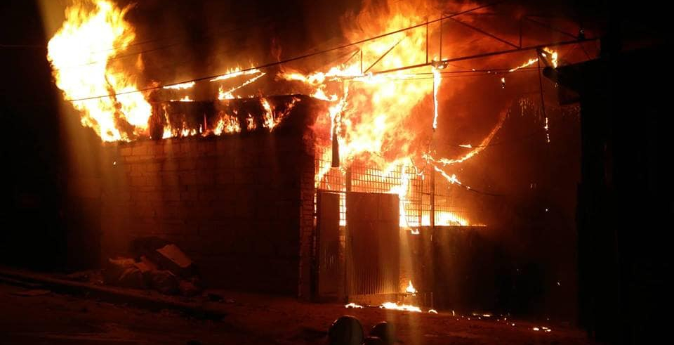 Massive fire engulfs cotton factory in Satungal (with video)