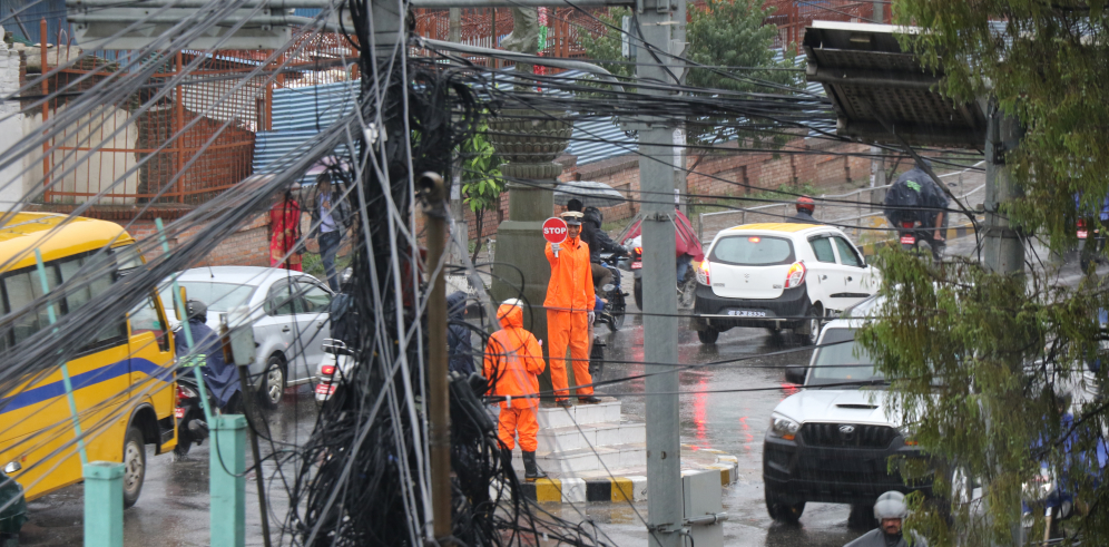 Difficulties with traffic movement in capital during monsoon season