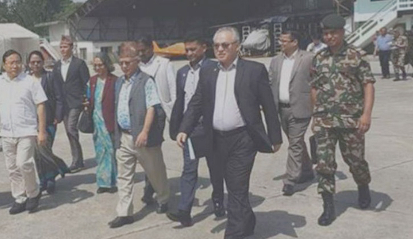 High-ranking govt officials including ministers flock to flood-hit areas (with video)