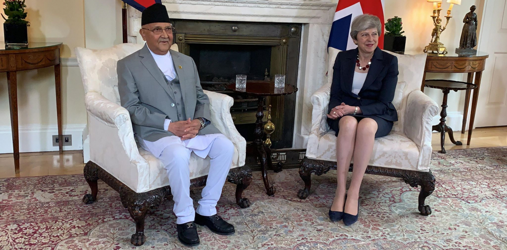 Oli stresses on review of  trilateral agreement between Nepal, UK and India (with video)