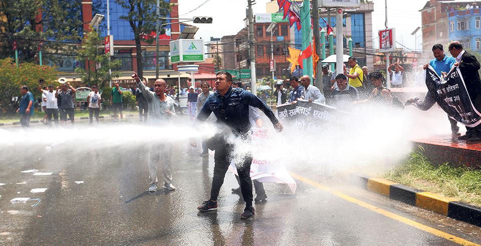 Locals hit street against new Guthi bill