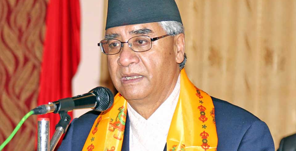 Deuba vents ire against gov't for dissolving Dalit Development Committee (with video)