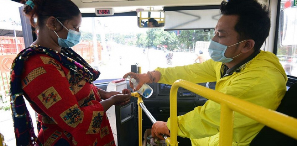 How are public buses resuming their service amid COVID-19 pandemic in Kathmandu Valley?  (With video)