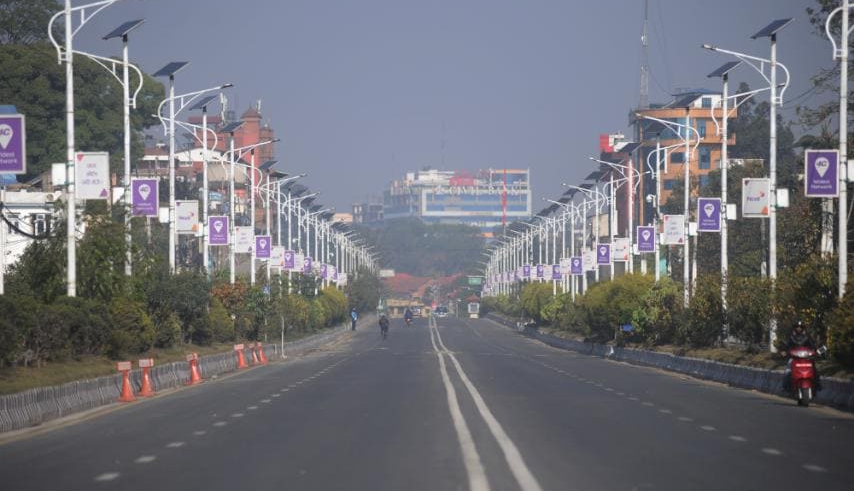 Silent Kathmandu, empty streets, empty TIA (with photos and video)