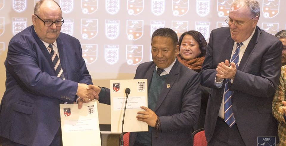 ANFA signs deal with England Football Association for friendly football match in May (with video)