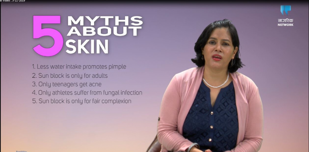 Dr Eliz Aryal debunking myths associated to skin