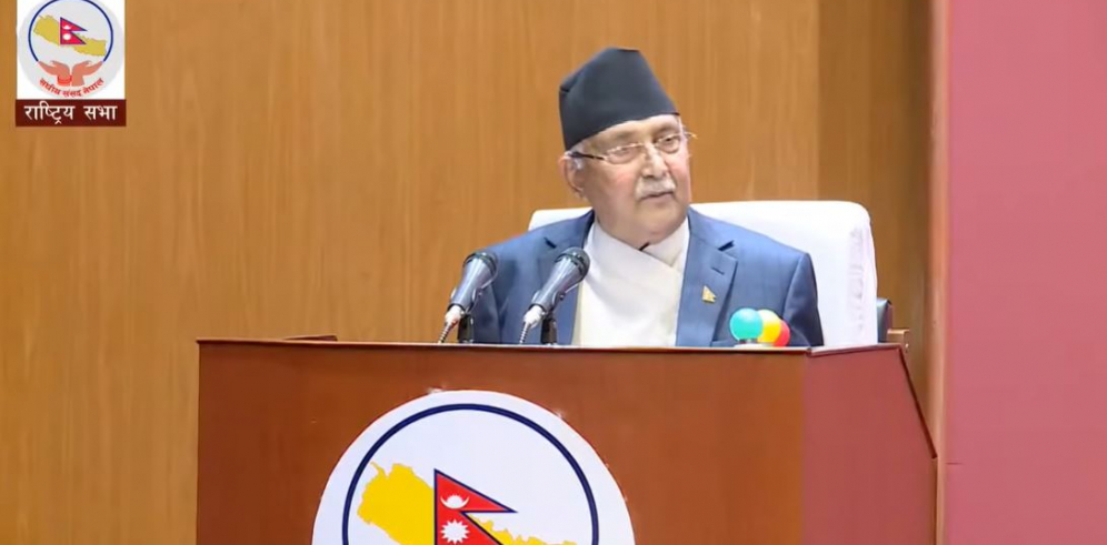 "VIDEO: PM Oli makes a series of false claims; says corona is a ""simple cough and cold"""