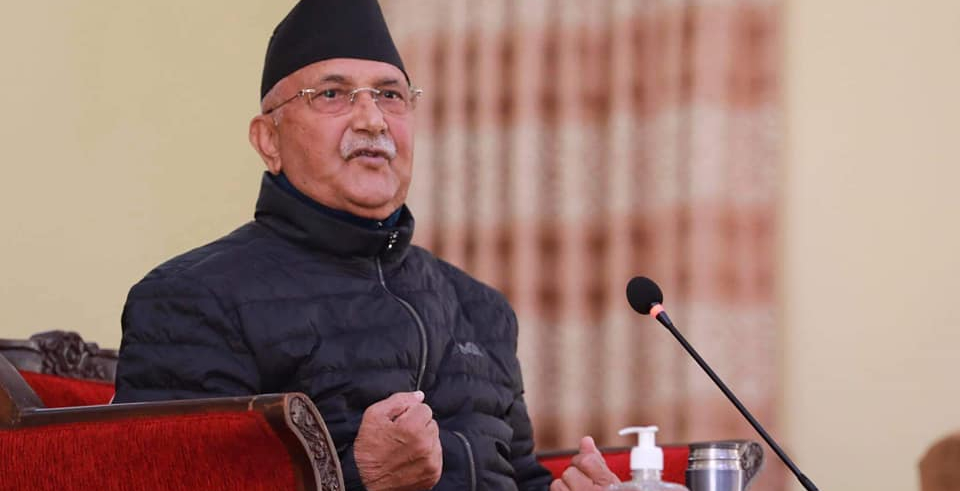 PM Oli lies about application filed at EC by Dahal-Nepal faction over NCP row (with video)