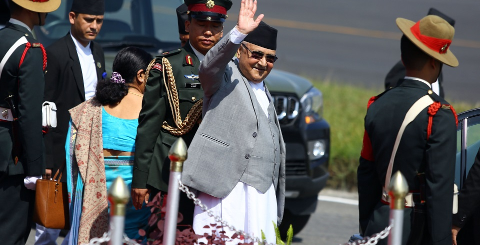 PM Oli leaves for Azerbaijan (with video)