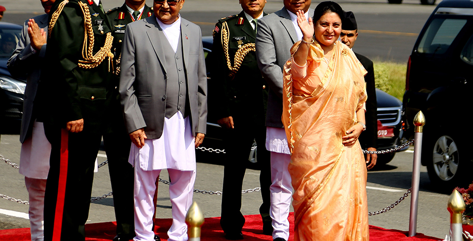 President Bhandari leaves for state visit to Myanmar(with video)