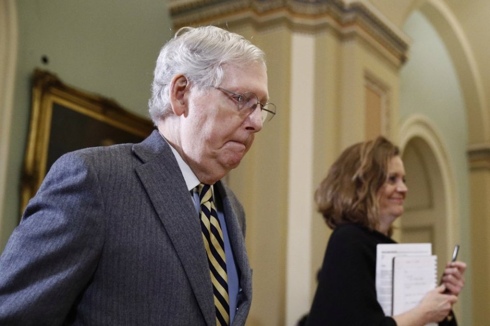 GOP lacks votes to block trial witnesses, McConnell concedes