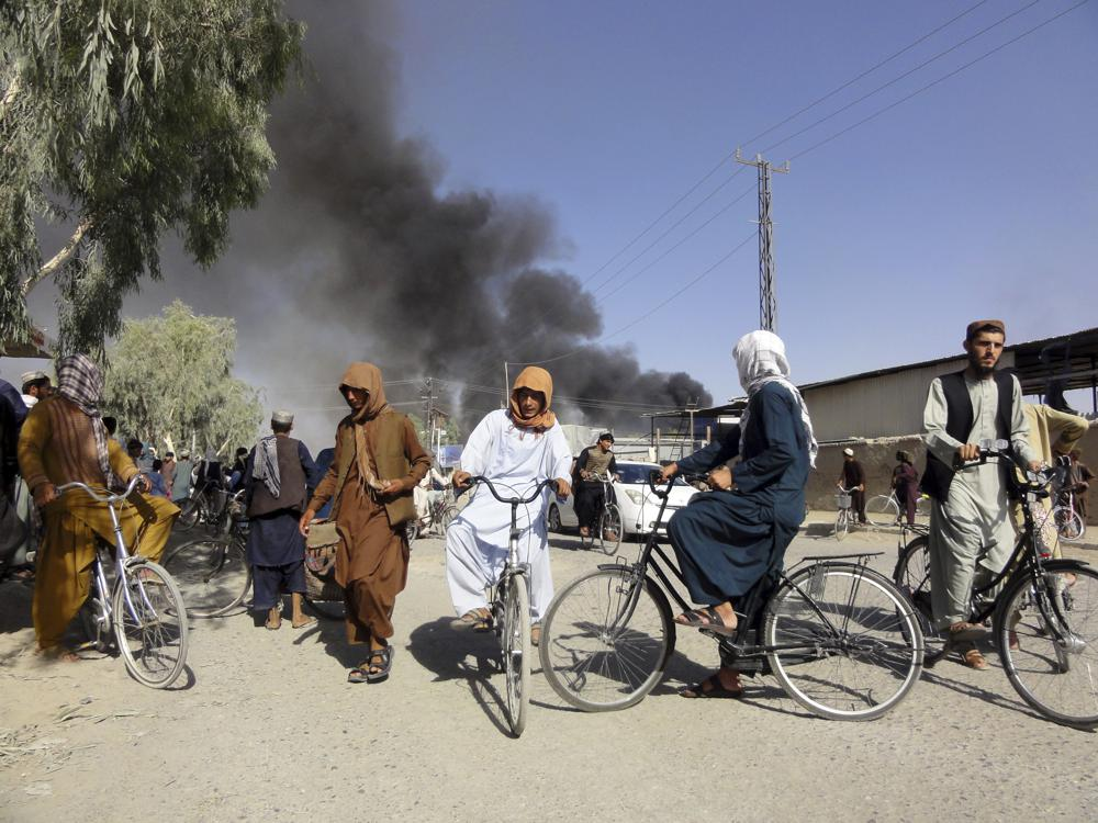 Taliban sweep across Afghanistan's south, take 4 more cities