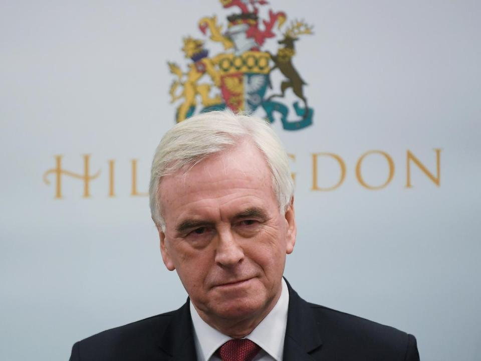 "I take the blame, says UK Labour's McDonnell of election ""disaster"""