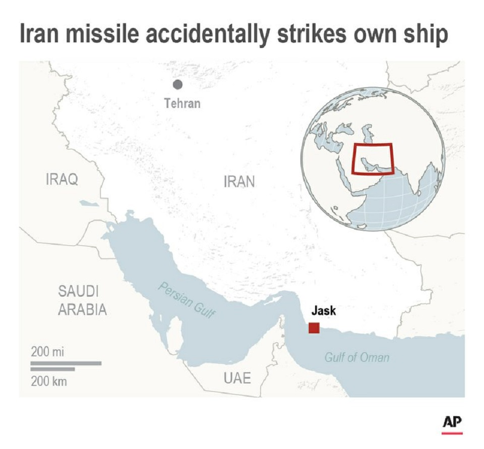 Iran friendly fire missile strike in drill kills 19 sailors