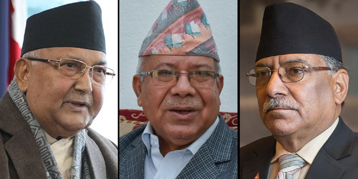 Dahal and Nepal in Baluwatar to hold 'decisive talks' with PM Oli to resolve intra-party disputes