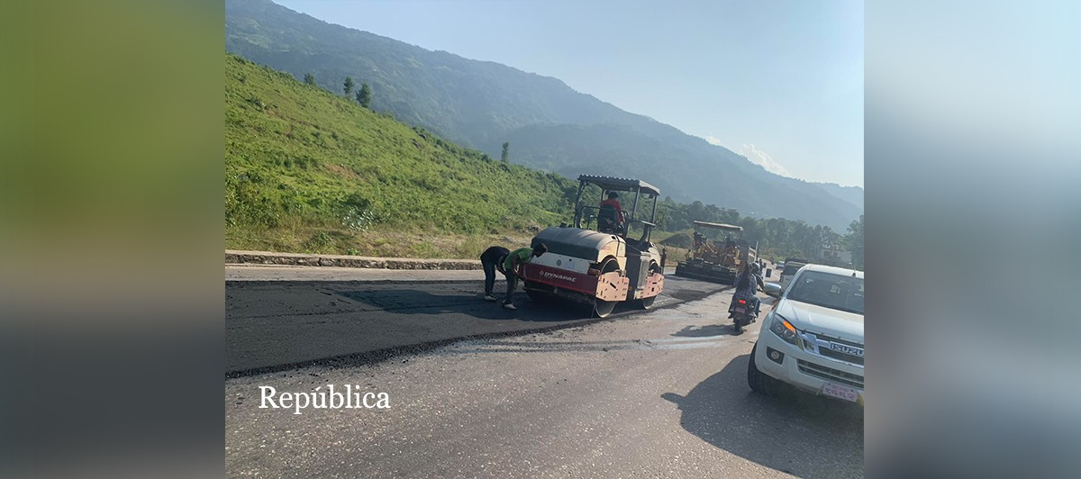 62 percent construction of Galchhi-Mailung road completed