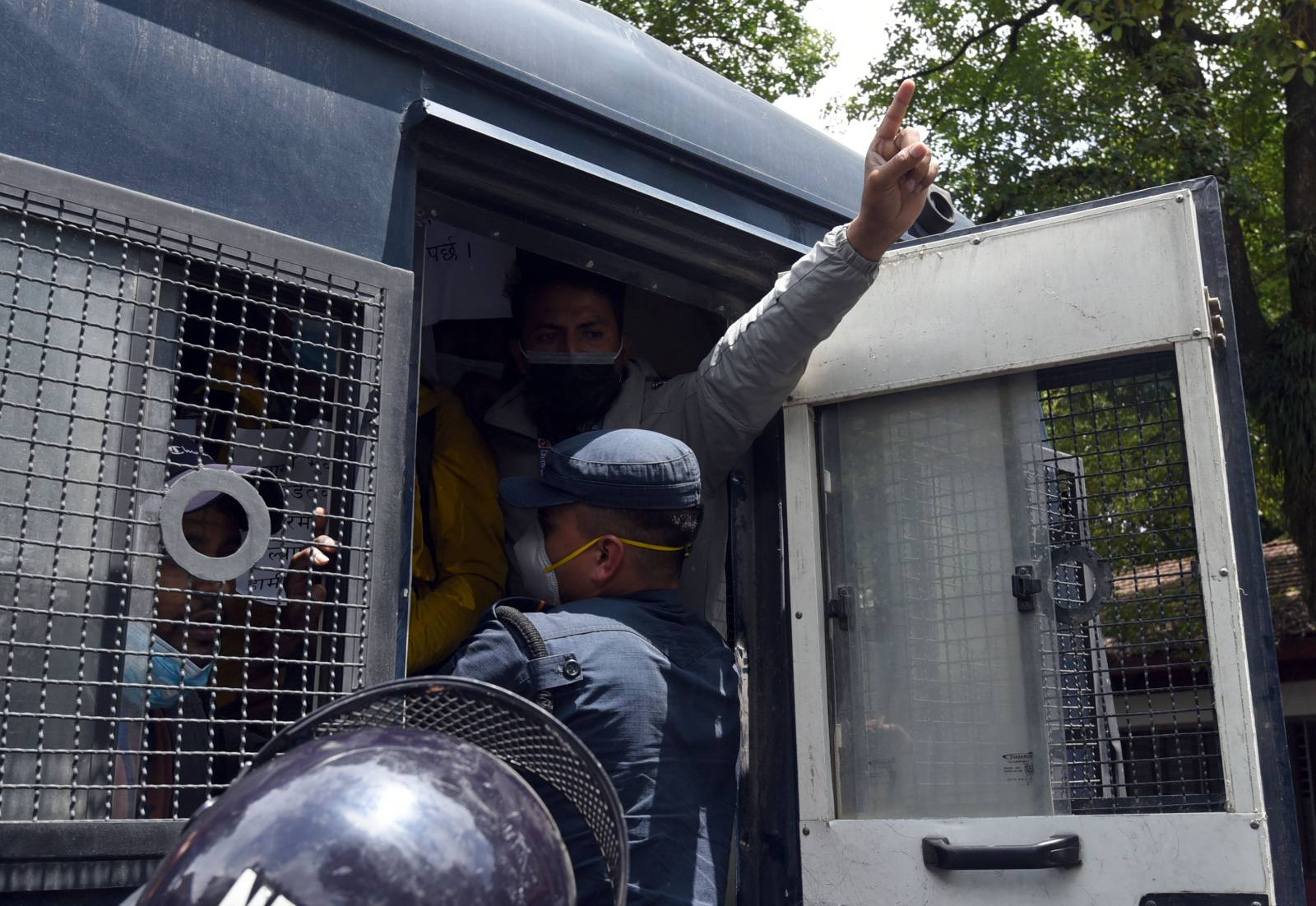Photos: Protesting engineers arrested
