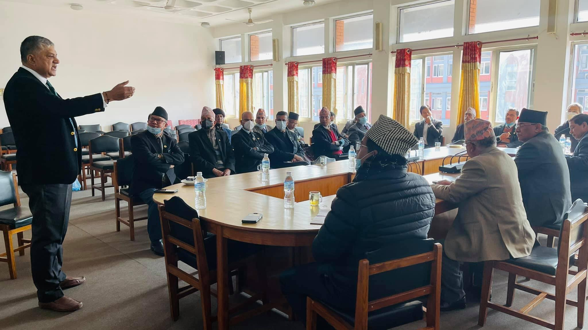 Dahal, Nepal consult constitution experts, legal eagles following HoR dissolution