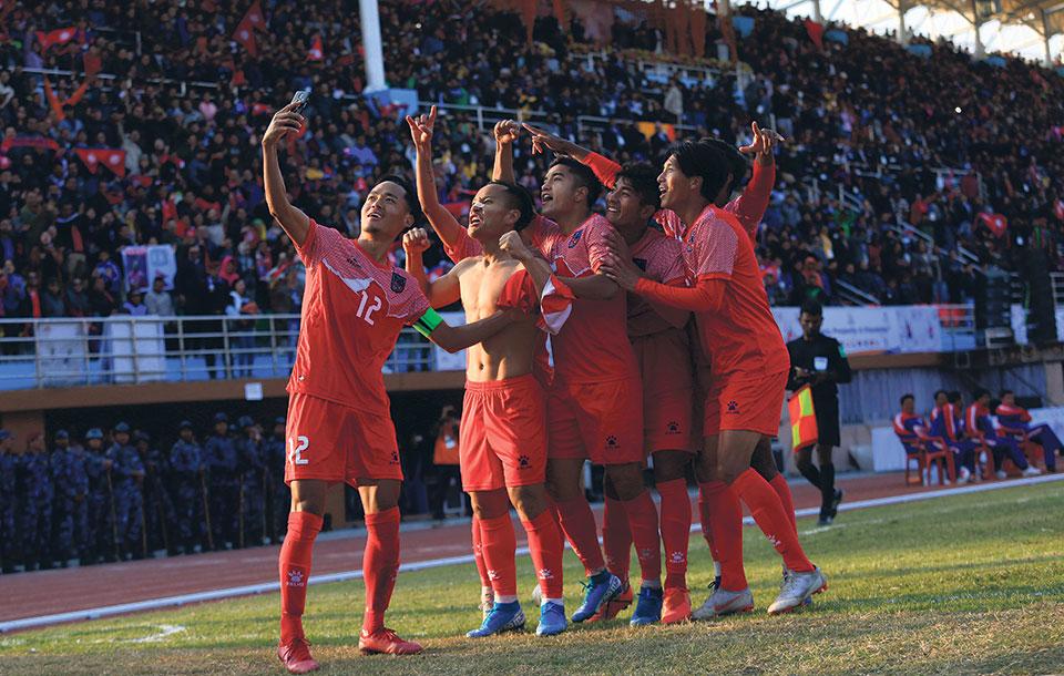Nepal retains men's football title in SAG