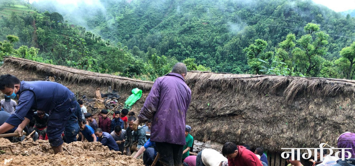 Six die, five others go missing in Tanahun landslides