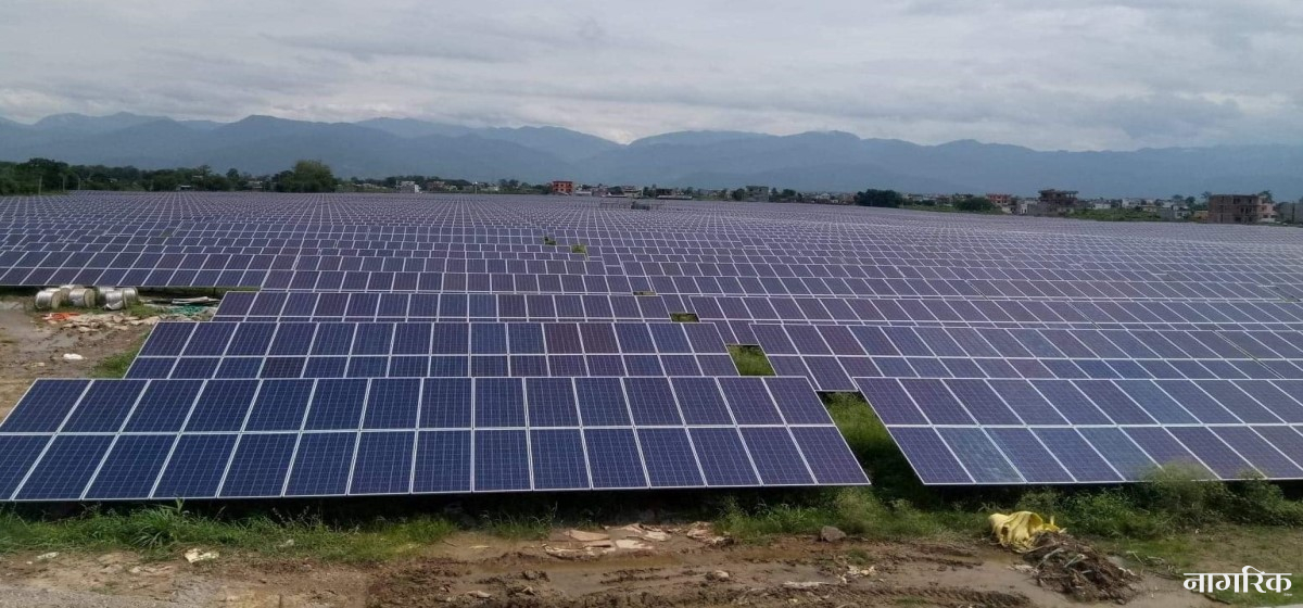 Solar power project in Butwal starts commercial power generation
