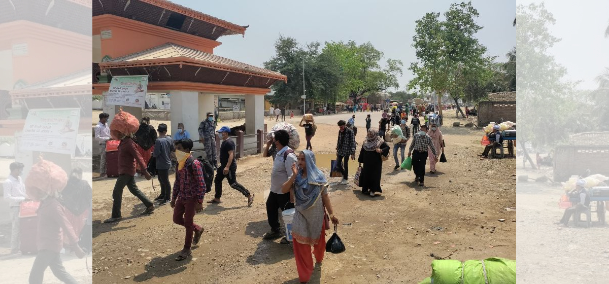 Thousands of Nepali migrant workers from Sudur Pashchim Province return home as India is hit by the worst wave of COVID-19
