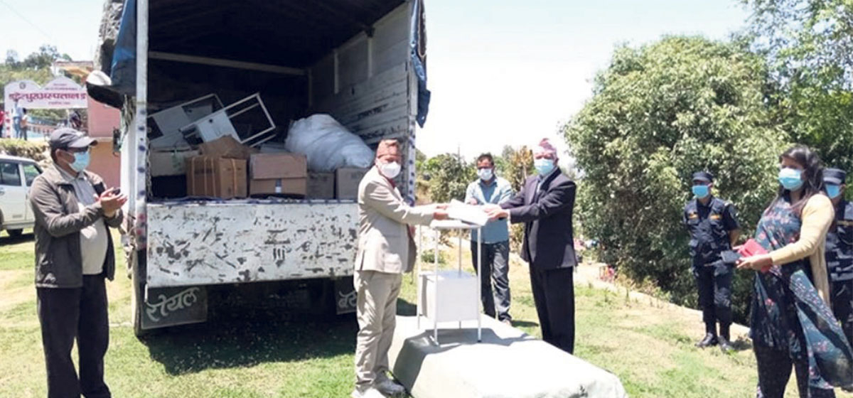 Ex-PM Deuba sends medical aid to his home district