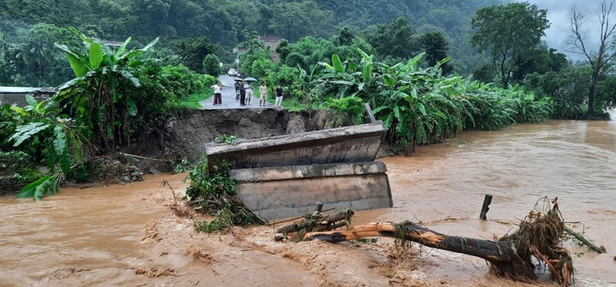 Landslides in Tanahun claims two lives as heavy rainfall continues, highways blocked as well