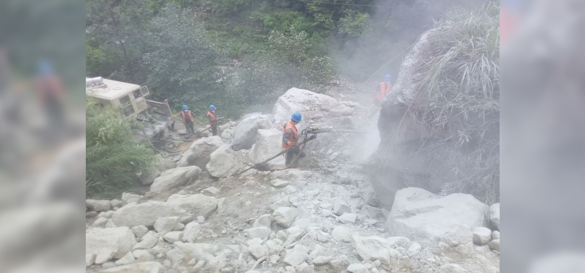 Four houses affected by landslides in Rasuwa