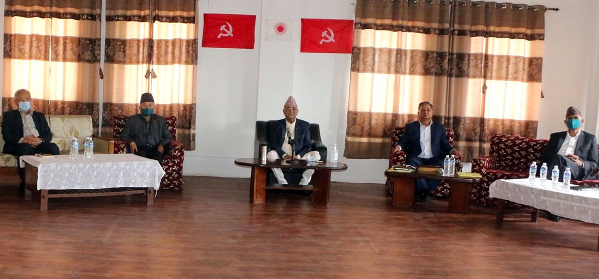 Oli urges UML members to unite for party's upcoming statute convention