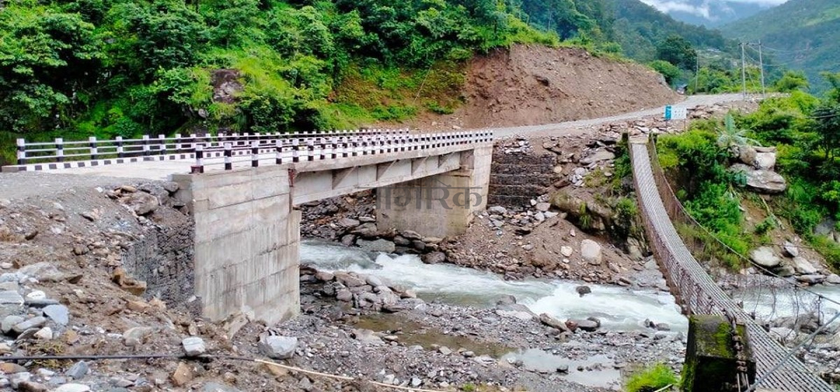 Construction of bridge connecting northern part of Gorkha concludes after a decade